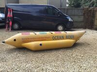 Banana boat, ocean rider, yellow, very good condion. Great fun