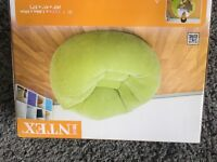 Large green inflatable chair