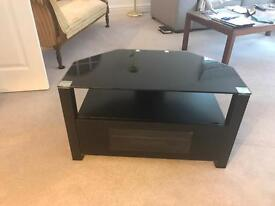 Black and glass high quality TV stand - JUST REDUCED