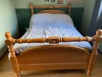 Solid pine standard double bed