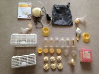 Medela Swing & Harmony breast pumps with accessories