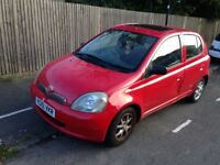 Toyota Yaris 1.3 cdx auto, air cond, sunroof, 5door, electric mirrors &front windows, 2001, petrol