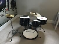 Rocket Music Junior Drum Kit *5 piece with cymbals*