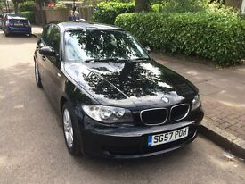 BLACK BMW 1 serie 118d 2007 for sale £2999 ,excelent drive.clean in and out,dont miss it