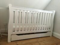 Mothercare sleigh cot bed