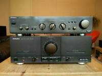 Preamplifier Technics SU-A40 and Power amplifier Technics SE-M100