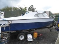 16 ft CUDDY DAY BOAT & TRAILER (PROJECT)