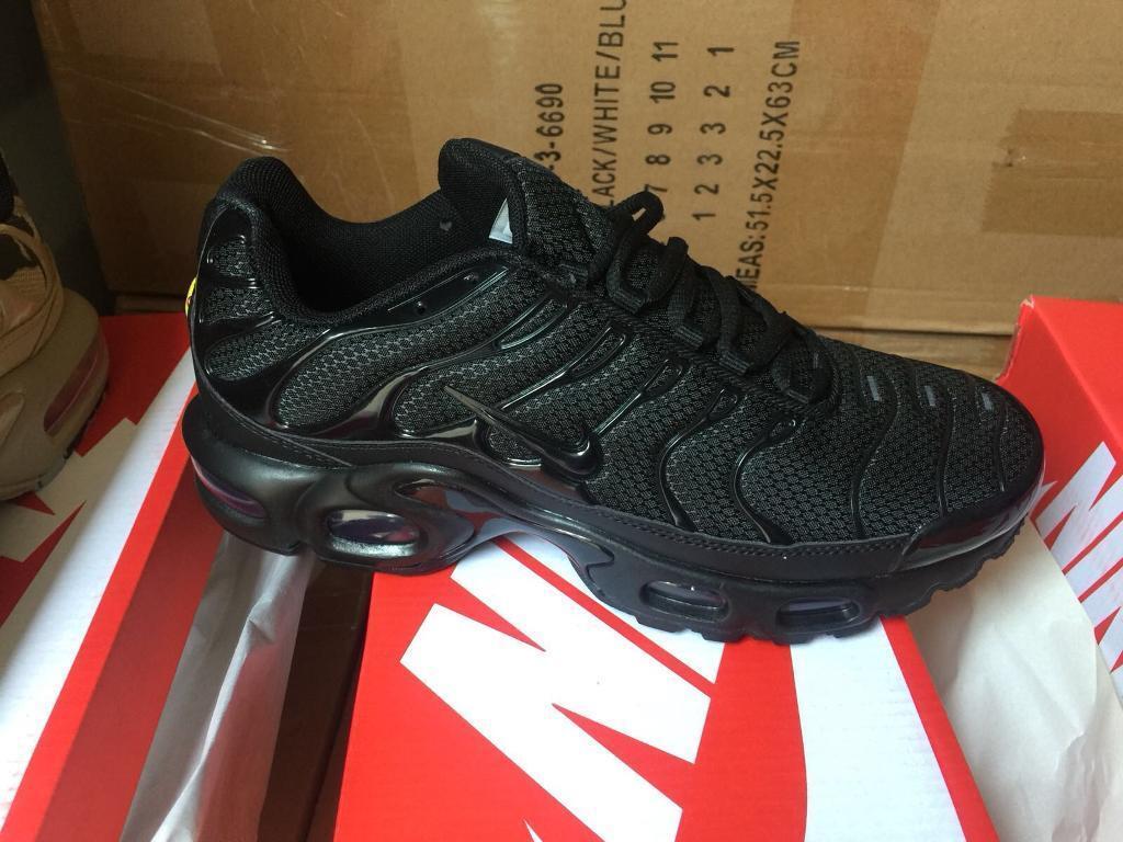 eb6d3c845717 New Mens Nike Air TN Black SIZES 6 7 8 9 FREE POST