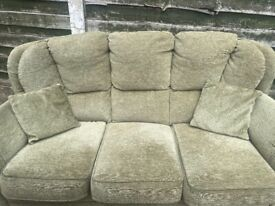 Three Seater sofa and one armchair with cushions