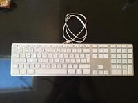 Wired USB aluminium Apple keyboard