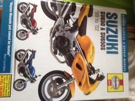 Suzuki sv 650 Haynes workshop manual