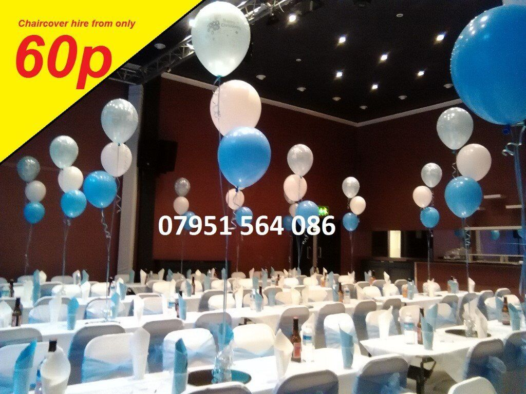 Party decoration stage balloon cake chair table cover sash for Balloon decoration london