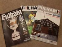 Fulham match day programmes.