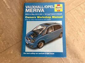 Haynes Vauxhall Meriva manual