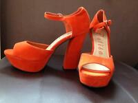 New orange heels size 4