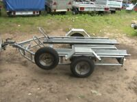 FULLY GALVANISED 500KG DOUBLE MOTORCYCLE TRANSPORTER TRAILER....