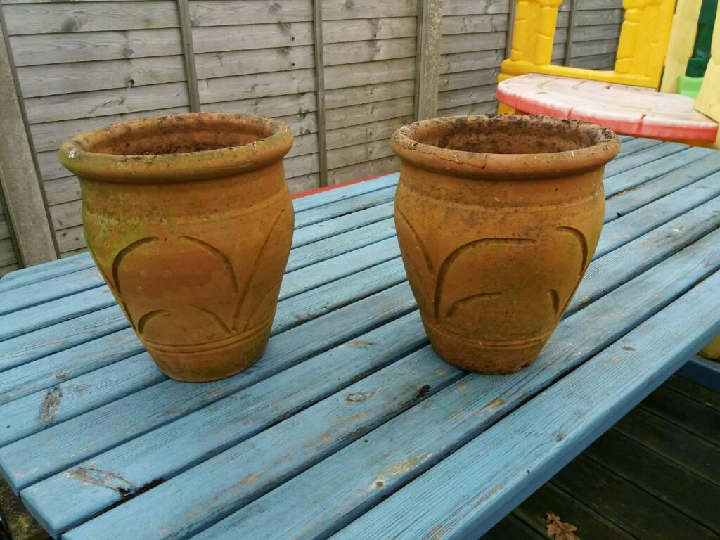 Terracotta pots - the pair £15