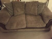 3 seater and 2 seater scatter back sofas
