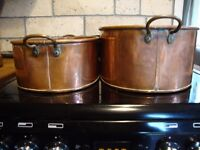 Traditional Vintage copper oven Dishes x Two