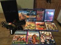 SONY PLAYSTATION 2 with 10 games, controller, memory card