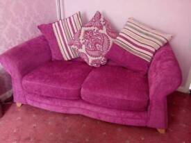 2 Pink dfs sofas