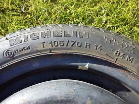 Car / Caravan / Trailer Wheel with 105/70 R14 tyre