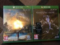 Assassins creed origins & shadow of war. (Xbox)