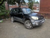Toyota RAV4 2002 2.0 VVTI *LOW MILEAGE*SPARES OR REPAIR*DAMAGED*EXPORT*NEEDS CLUTCH*