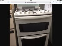 Free standing Electrolux gas cooker - white