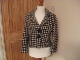 Black and Cream Jacket Size 14
