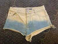 Topshop Faded Denim Shorts