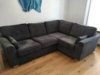 DFS Sofa left hand facing 2 seater corner sofa