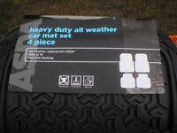 ASDA HEAVY DUTY CAR MATS SET OF 4 SUIT NISSAN QUASHQAI or 4x4