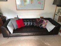 Lansdowne Chesterfield Leather 3 Seat Sofa- Modern Terrance Woodgate Design reduced- £450