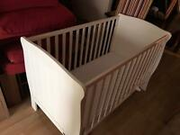 Mamas and papas a white cot with mattress