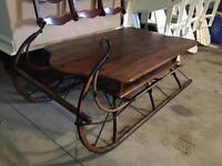 ANTIQUE SLEIGH TABLE