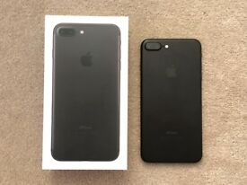 Used iPhone 7 Plus Excellent Condition Unlocked Matte Black 128GB