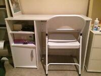 Argos Lawson slim white desk