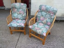 2 x Conservatory Cane Armchairs Delivery Available