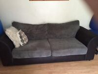 charcoal 3 seater sofa