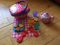 Leapfrog Picnic Basket and Fisher Price Teapot