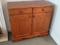 An MFI brown wood sideboard Perfect condition.