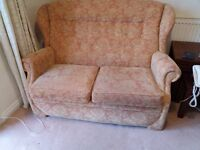 Two Seater Cottage Style Sofa and Matching Armchair