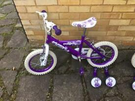 """Two girls bikes in excellent condition size 12"""""""