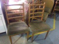 vintage schreiber dinging chairs