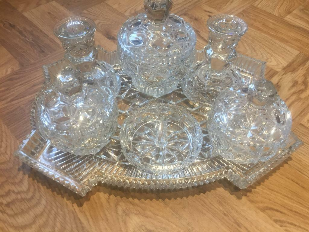 Crystal dressing table tray set | in Carlton, Nottinghamshire | Gumtree