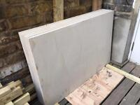 Six 90x60 Paving Slabs (white mint honed and calibrated)