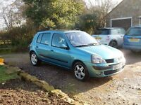 2005 RENAULT CLIO DYNAMIQUE 16V BLUE Well equipped 5 Door