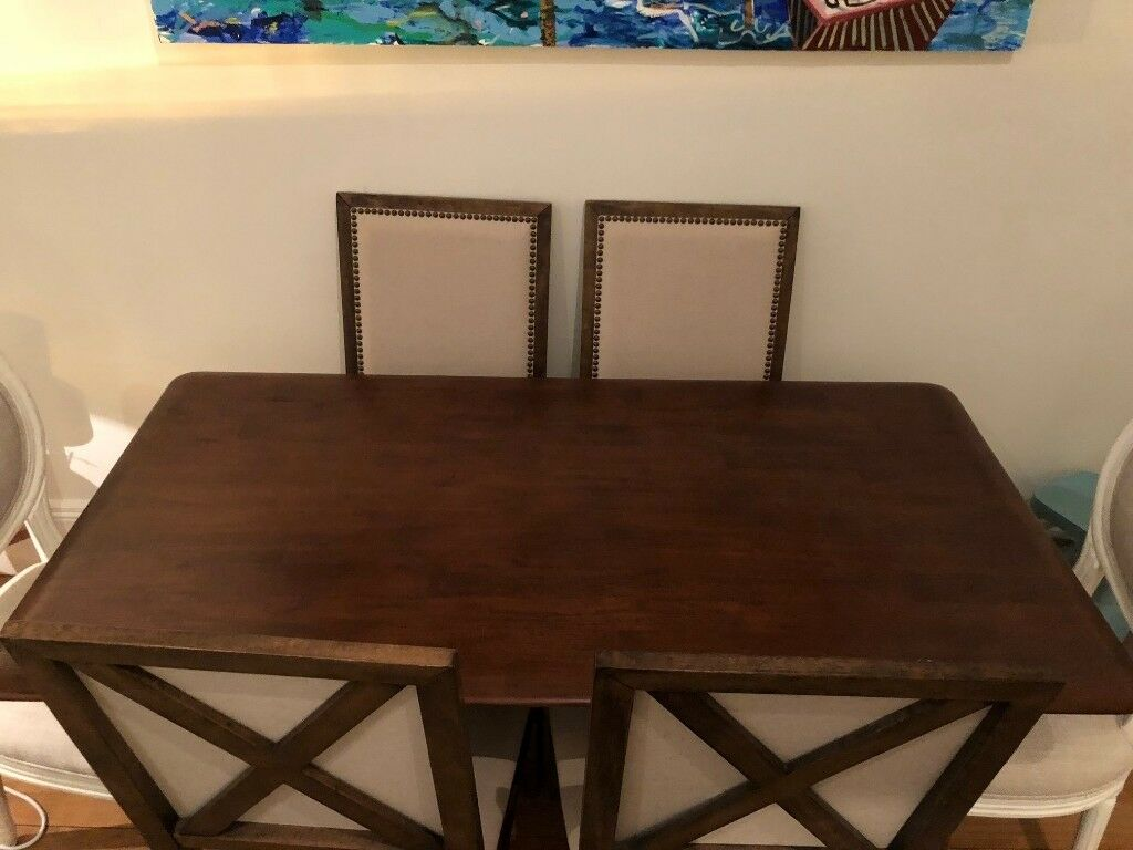 furniture like west elm. furniture like west elm. just reduced gorgeous wood dining table, seats 6, elm