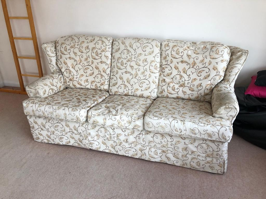 3 Seater Floral Design Sofa